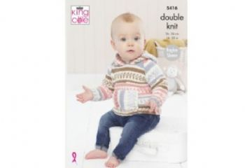 King Cole Cherish DK Baby Hoodies Sweater Knitting Pattern 5416